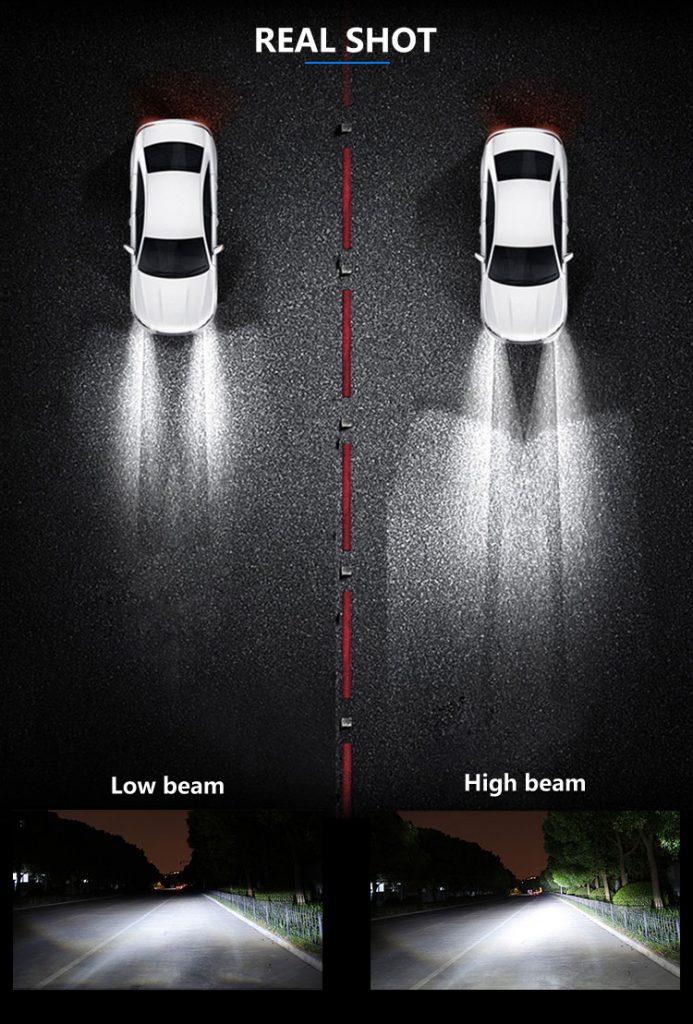 Motoeye H4 LED Headlight Bulbs Hi/Lo Beam 9600LM (2x4800LM) 80W(2x40W) 6500K Cool White - 2 Year Warranty-5