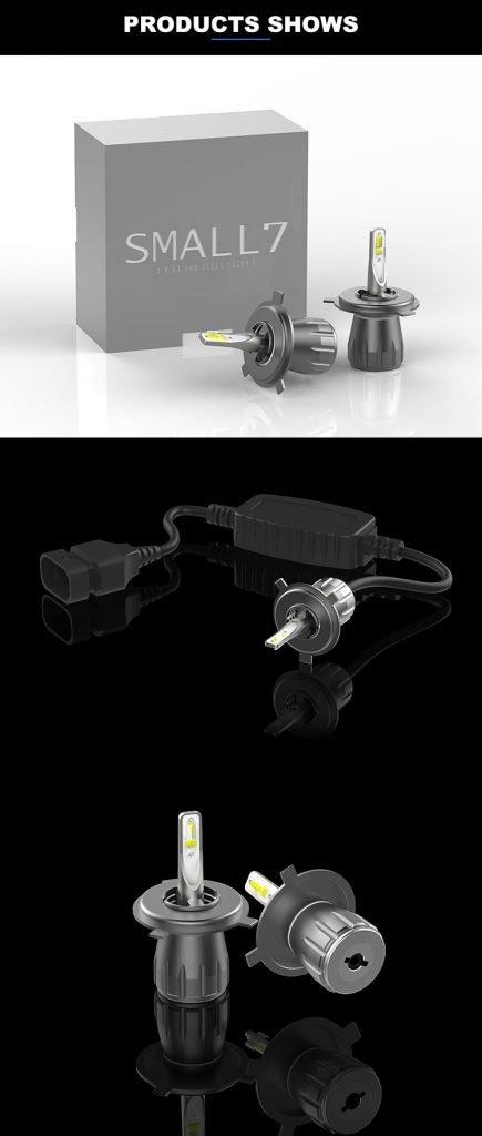 Motoeye H4 LED Headlight Bulbs Hi/Lo Beam 9600LM (2x4800LM) 80W(2x40W) 6500K Cool White - 2 Year Warranty-4